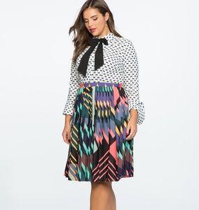 Eloquii Mixed Print Dress